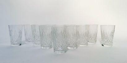 SAINT LOUIS  Suite de 12 verres verres à...