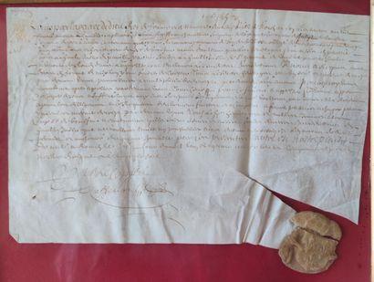 Ancienne LETTRE MANUSCRITE datant du XVIIe...