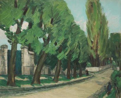Alphonse QUIZET (1885-1955) Promeneurs sur...