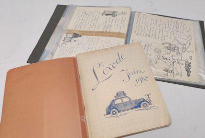 Lot comprenant un journal manuscrit