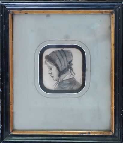 ECOLE FRANCAISE XIXE SIECLE  Portrait de...