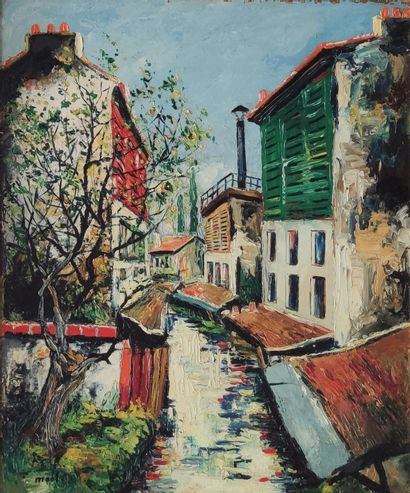 Elisée MACLET (1881-1962)  Vue de la Bievre...