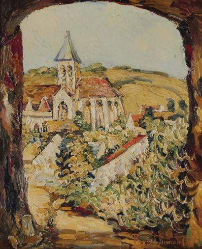 Pierre DUMONT (1884-1936)  Vue de la Roche...
