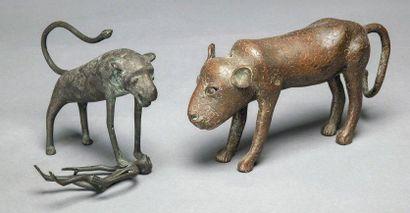 LION en bronze à cire perdue symbolisant...