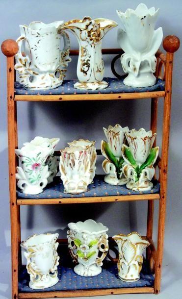 Rare ensemble de vases de mariés miniatures...