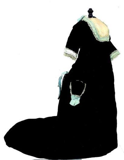 Belle robe longue de poupée parisienne en...