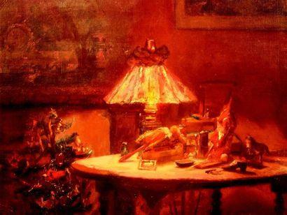 «Nuit de Noël» originale huile sur toile...