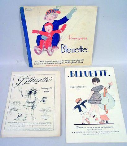 Ensemble de trois rares catalogues saisonniers...