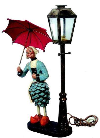 Très originale lampe de chevet électrifiée...