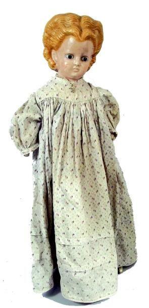 Grande poupée allongée de fabrication allemande,...