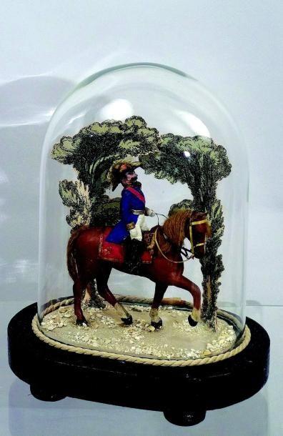 Napoléon III sur son cheval. Figurine peinte...