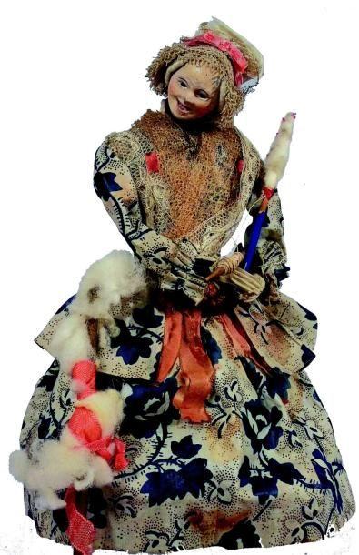 «Fileuse» rare ancienne poupée française...