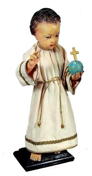 «Enfant-Jésus» en carton et plâtre moulé...