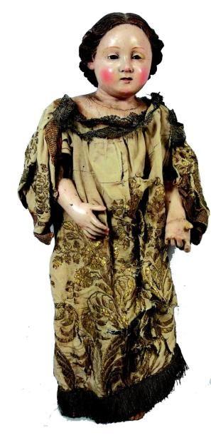 Magnifique poupée Enfant-Jésus tout en bois...