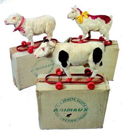 A-B-C- Trois animaux de la ferme (boeuf,...