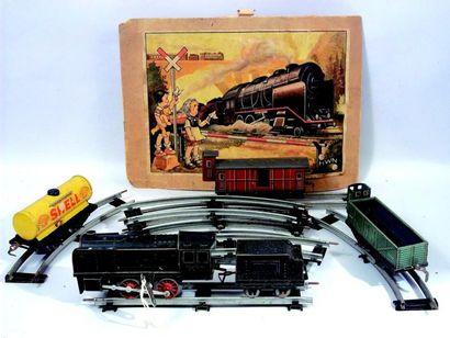 Petit train mécanique, écartement 0, de fabrication...