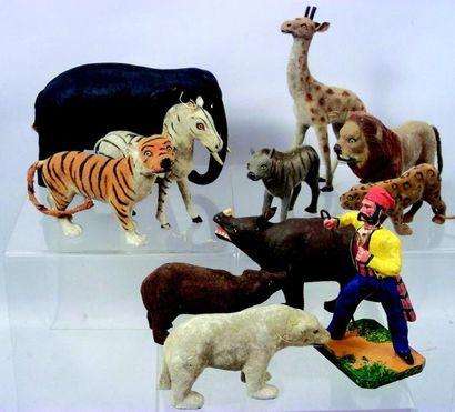 «La ménagerie de Cirque» ensemble de 10 animaux...