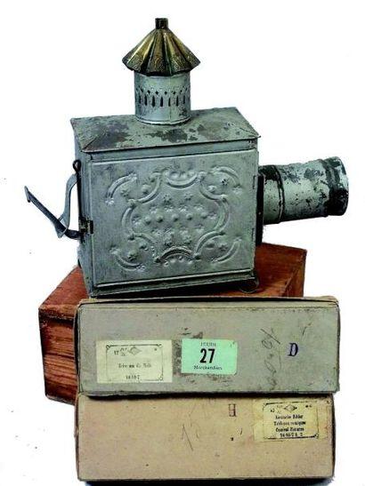 Lanterne magique en métal de fabrication...