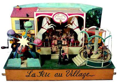 «La Fête au Village» original automate artisanal...