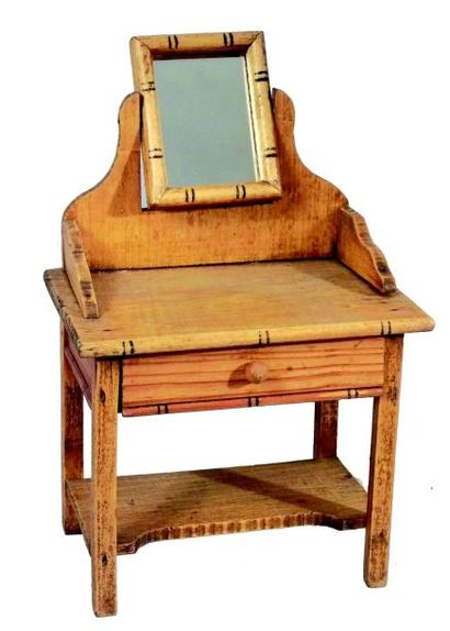 Petite et originale table de toilette en...