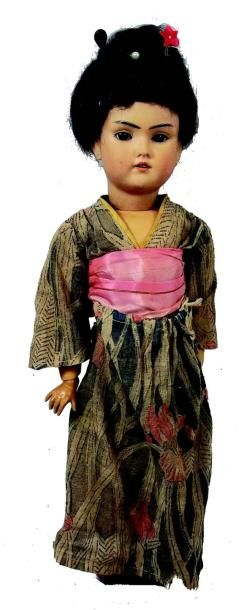«Madame CHRYSANTHEME», Bébé oriental de fabrication...
