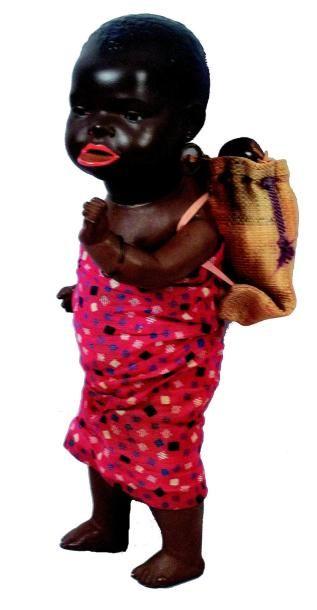 «Négresse à plateau» Rare bébé noir représentant...