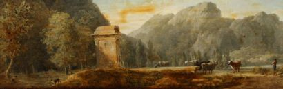 PIERRE HENRI DE VALENCIENNES ( 1750 - 1819 ) attribué à      14 bis Pierre Henri...