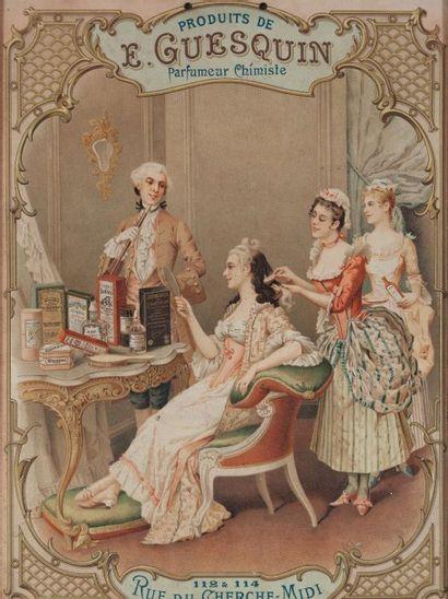 E.Guesquin - (années 1900-1910) Dans son encadrement d'origine, panneau publicitaire...