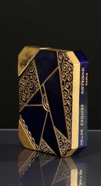 BRYENNE «Heure Exquise» - (années 1920) Très rare flacon Art Déco moderniste en verre...