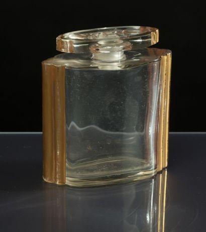 WEIL «Zibeline «- (années 1930) Rare dans cette grande taille, flacon en verre incolore...
