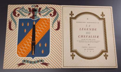 La Légende du Chevalier - (1943) Important livret consacré à la pièce de théâtre...