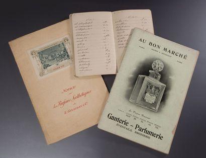 Divers Documents - (années 1920) Lot comprenant un carnet de formules manuscrites...