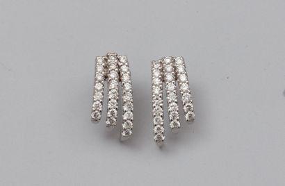 Paire de boucles d'oreilles en or gris 750°/00...