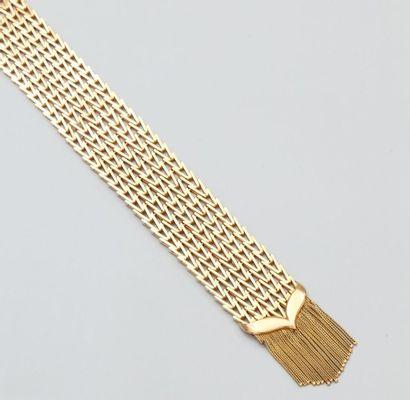 Bracelet ceinture en or jaune 750°/00 (tête...