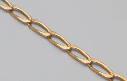 Bracelet d'homme en or jaune 750°/00, maille...