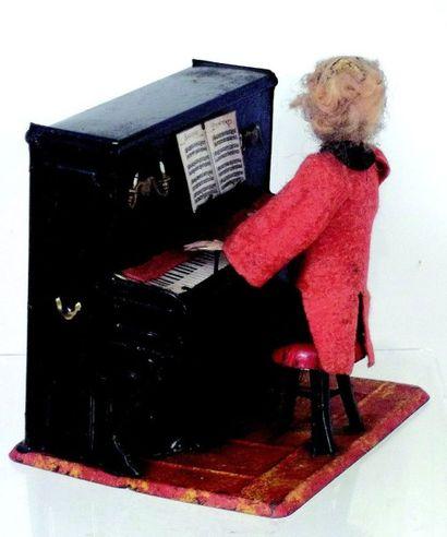 «Le pianiste» jouet mécanique habillé et...