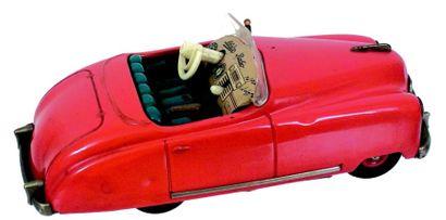 Voiture mécanique en métal de couleur rouge...