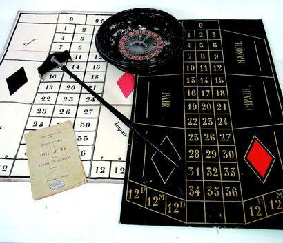 Très beau jeu de roulette ancien avec la...