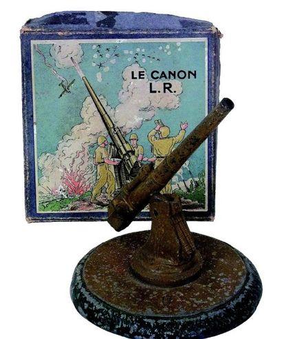 «CANON L.R.», Canon anti-érien en métal par...