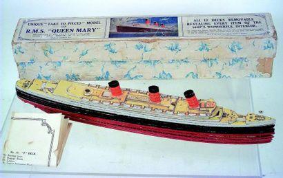 «QUEEN MARY» extraordinaire maquette miniature...