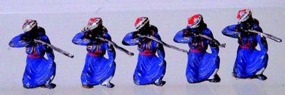 Ensemble de 5 «Turcos» en plomb de fabrication...