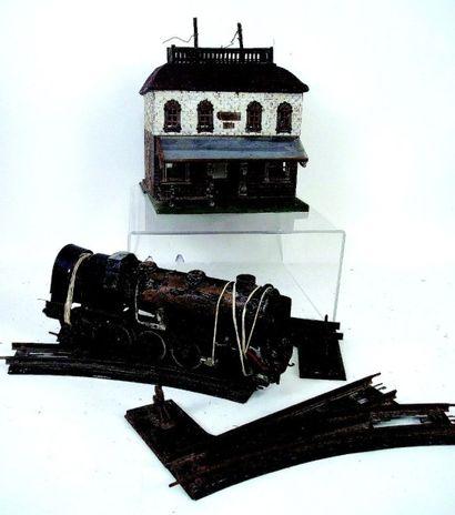 Locomotive à vapeur vive en métal en mauvais...