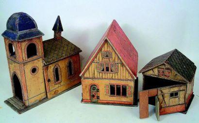 Original petit hameau en bois recouvert de...