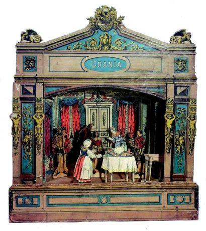 «URANIA» théâtre de table en bois entièrement...