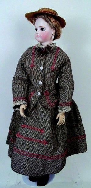 Grande, exceptionnelle et rare poupée parisienne...