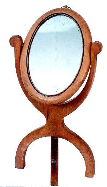 Beau miroir PSYCHE en loupe d'orme avec miroir...