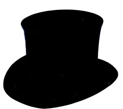 Chapeau mécanique «haut de forme» en soie...