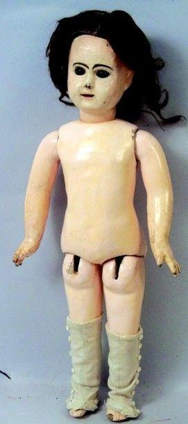 Bébé PHENIX, tête en biscuit coulé, bouche...