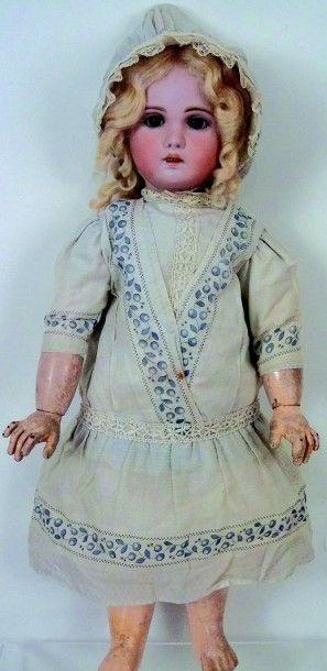 Bébé JUMEAU (période SFBJ, circa 1907) tête...