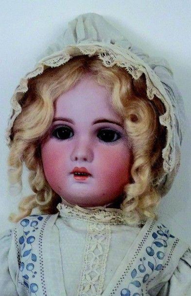 Bébé JUMEAU (période SFBJ, circa 1907) tête en biscuit coulé, moule 1907, bouche...